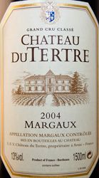 Château du TERTRE 2004 5ème Grand Cru Classé